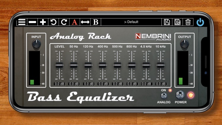 Analog Rack Bass Equalizer