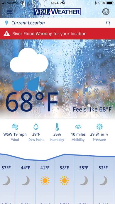 Wral Weather review screenshots