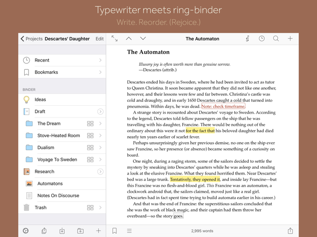 ‎Scrivener Screenshot