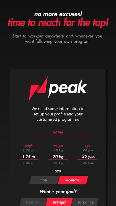 PEAK - Bodyweight Workout screenshot one
