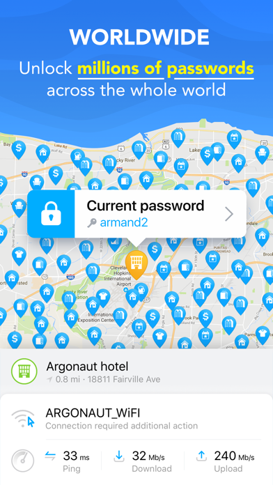 Screenshot for WiFi Map Pro: WiFi, VPN Access in Azerbaijan App Store