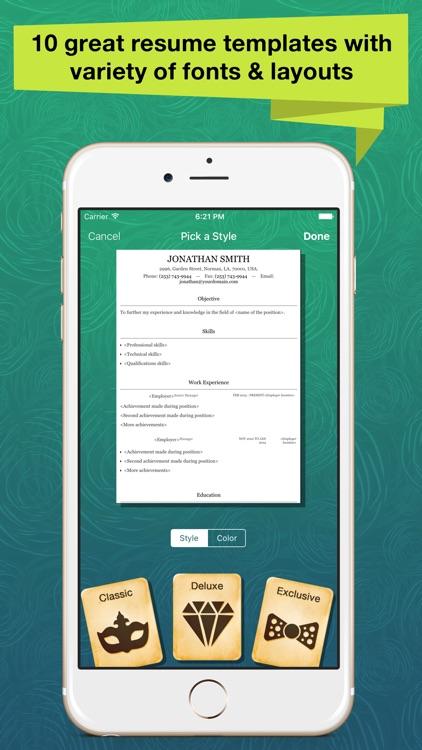 Resume Apex Pro – Resume Build screenshot-4