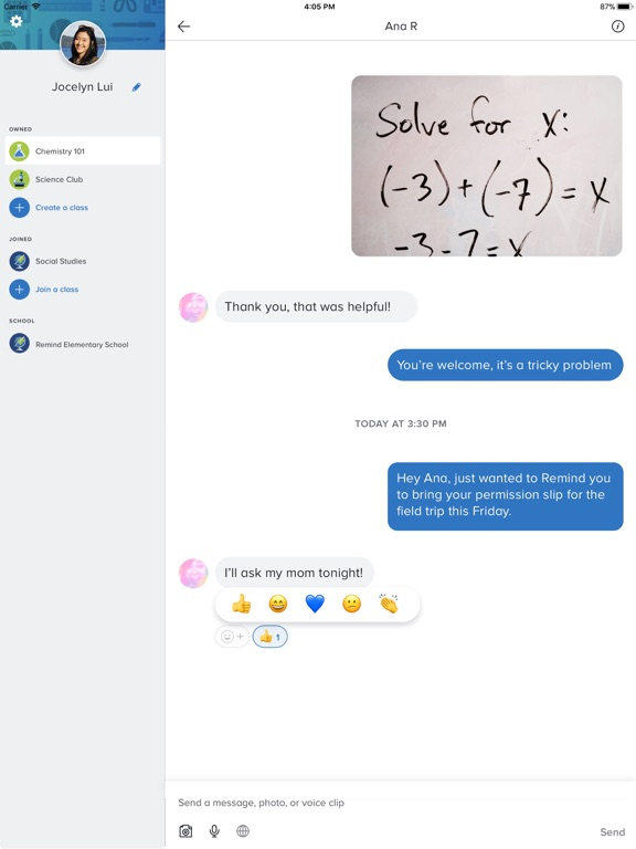 Screenshots for Remind: School Communication
