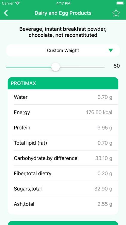 Nutrition Data - Food Calorie screenshot-5