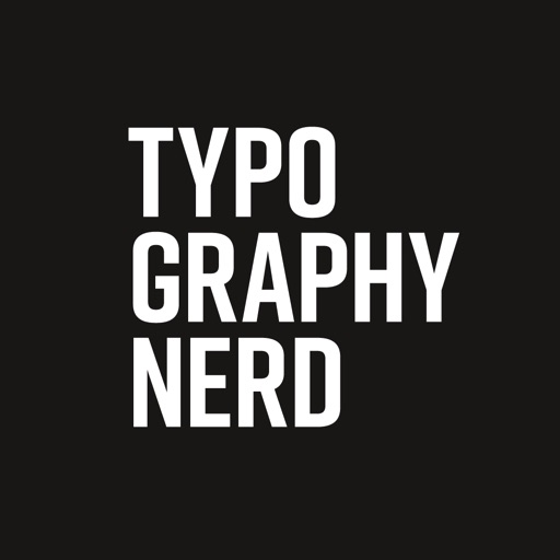 Typography Nerd Sticker