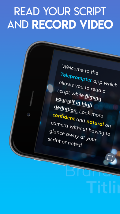 Teleprompter' Screenshot on iOS