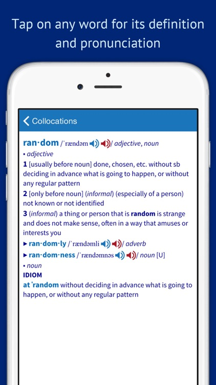 Oxford Collocations Dictionary screenshot-4
