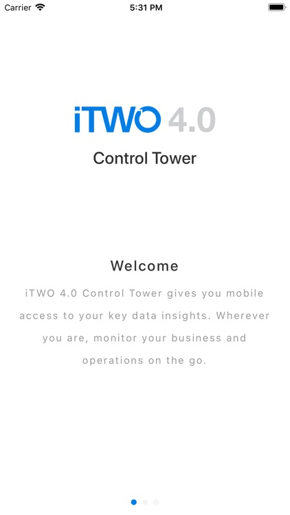 iTWO 4.0 Control Tower