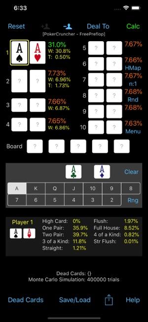 PokerCruncher - Preflop - Odds on the App Store