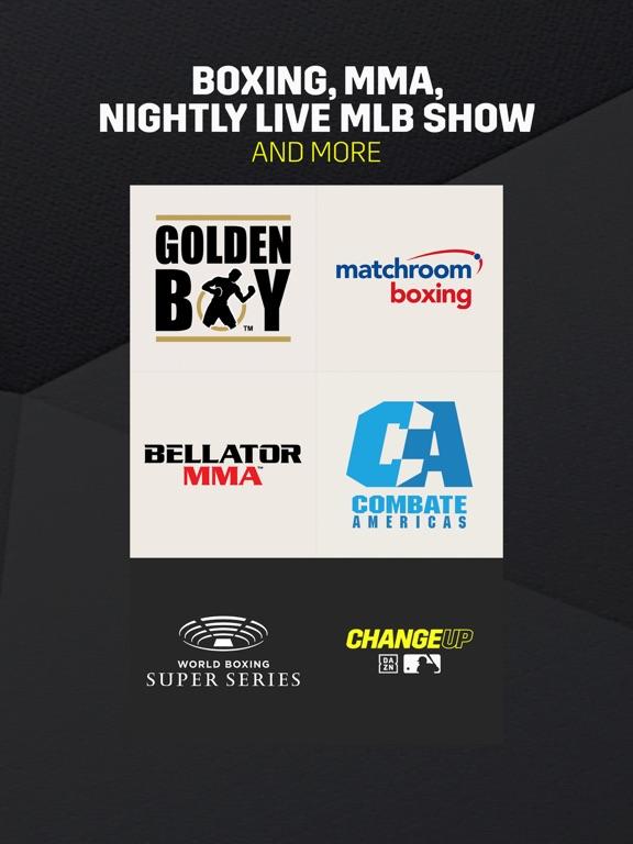 DAZN: Live Boxing, MMA & MLB – App Store Application – Xarold