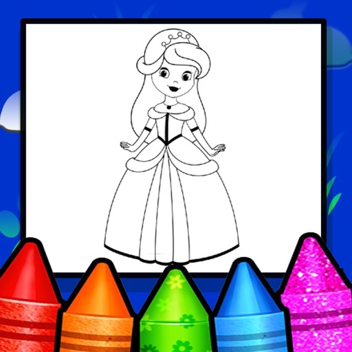 Princess Coloring Drawing Book