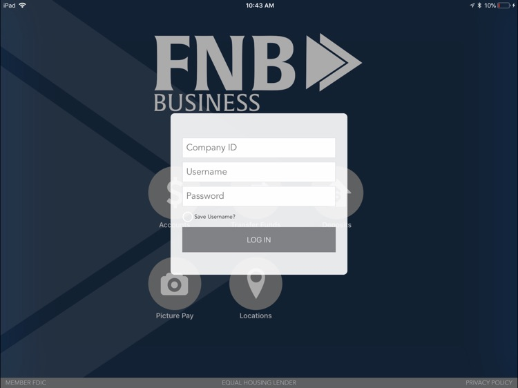 FNB Business Mobile for iPad