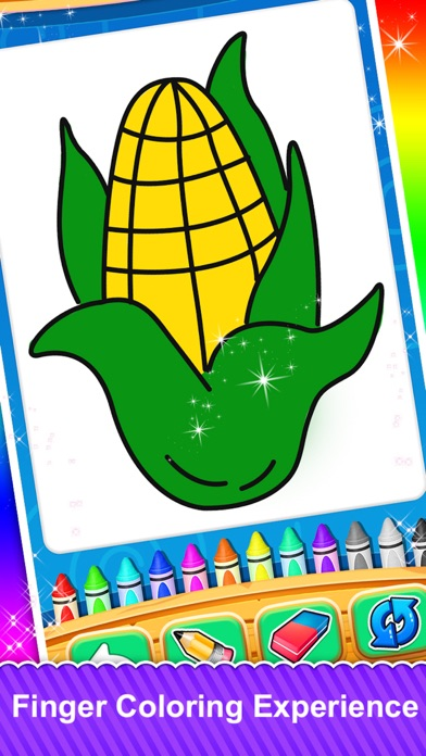Fruits and Vegetable Coloring screenshot 2