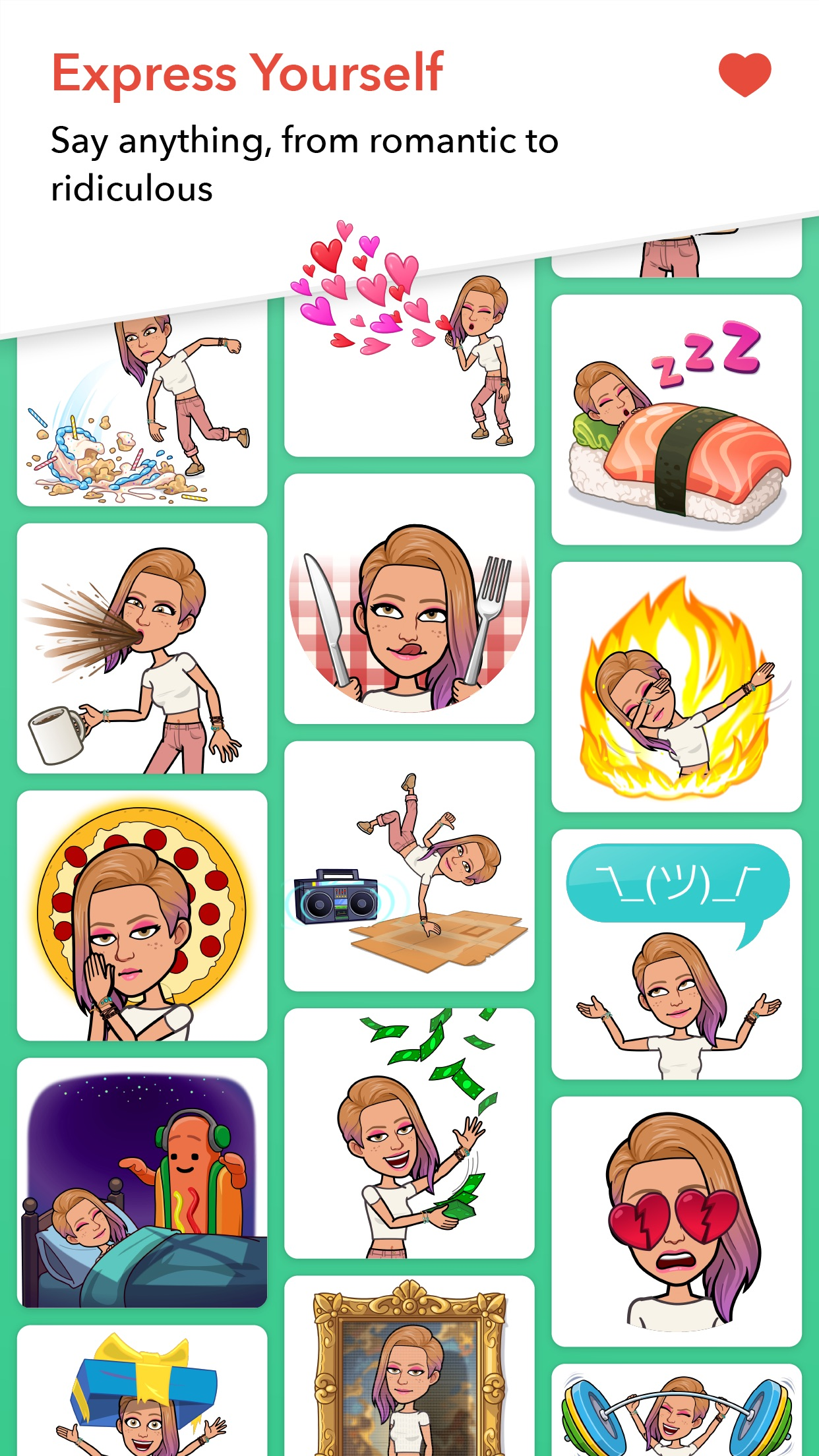 Bitmoji Screenshot