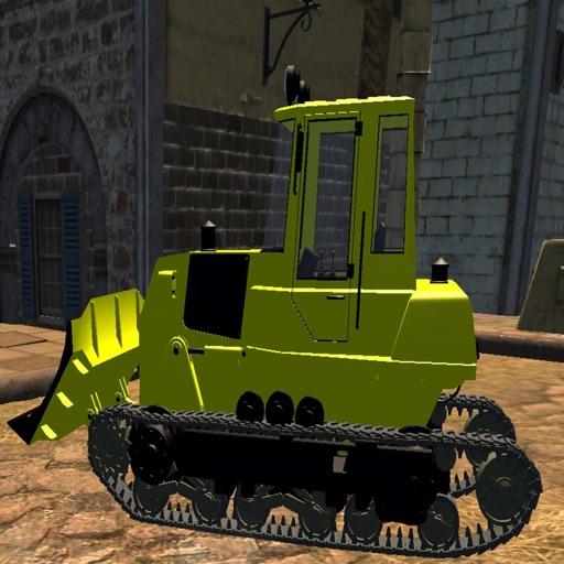 Big Construction Bulldozer