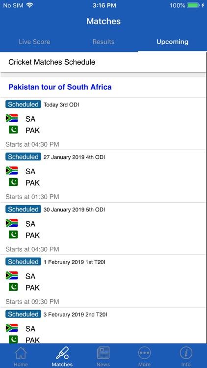 CrickOne - Live Cricket Scores screenshot-4