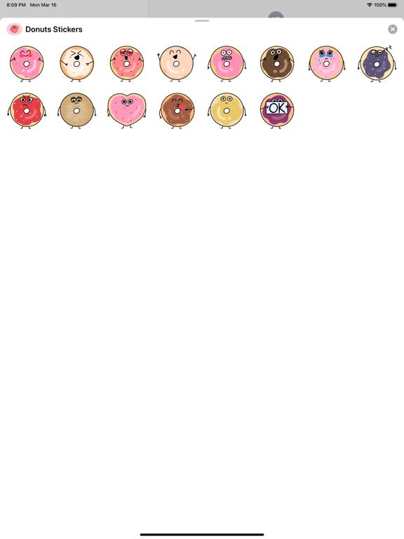 Cute Donuts Stickers screenshot 2