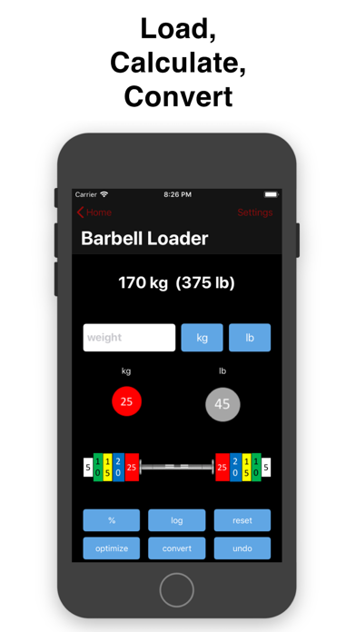 Barbell Loader and Calculator Screenshots