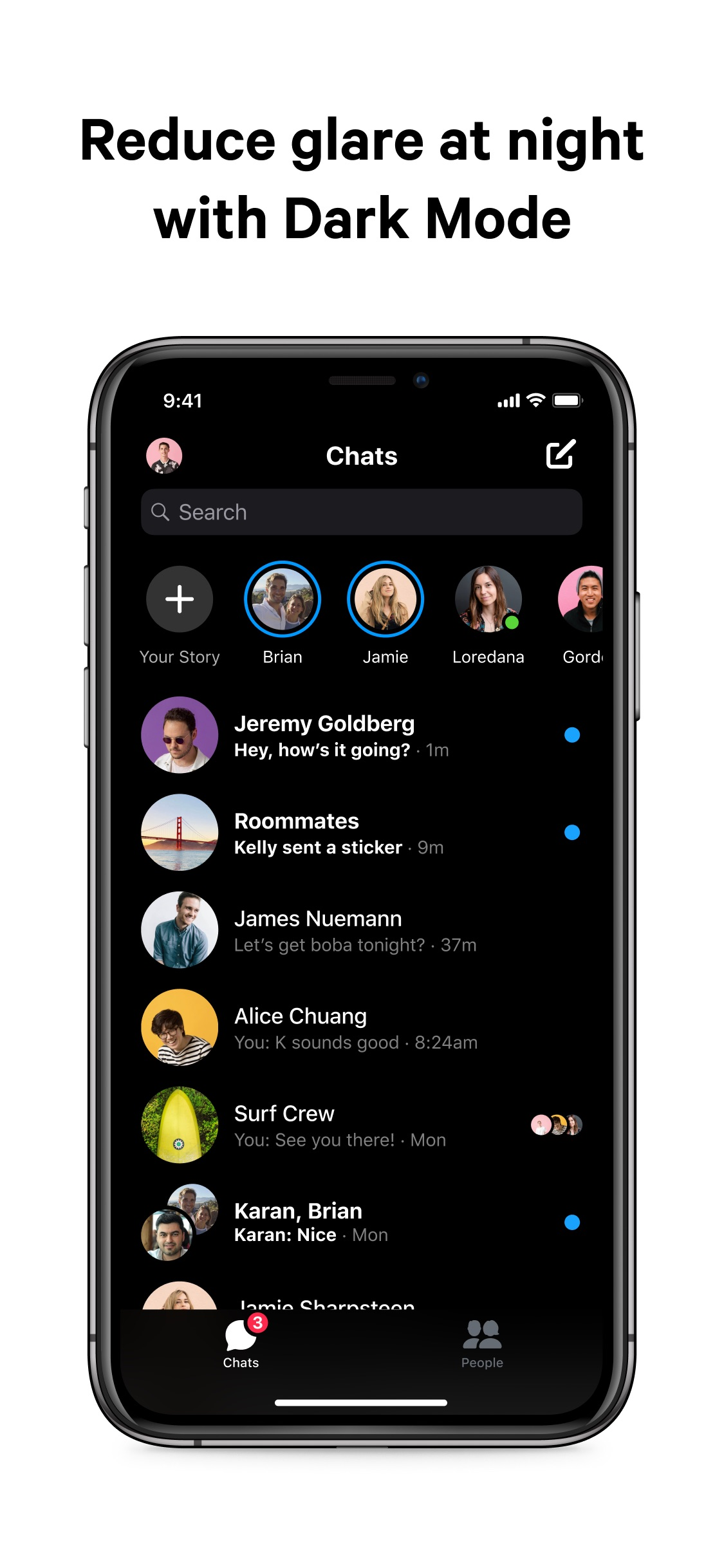Screenshot do app Messenger