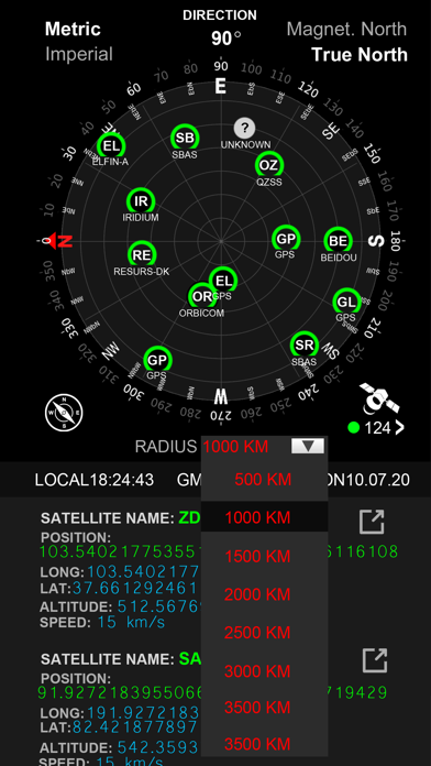 Satellite Info GPS Status Screenshot