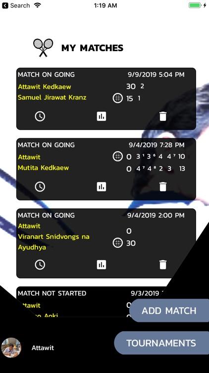 Tennis ScoreBox
