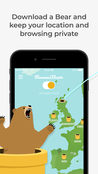 TunnelBear: Secure VPN & Wifi Screenshot