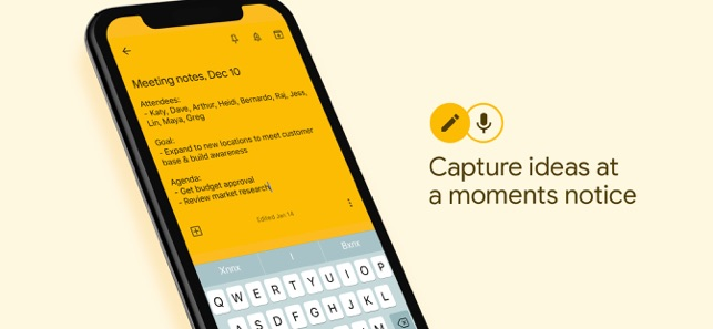 Google Keep - Notes and lists on the App Store