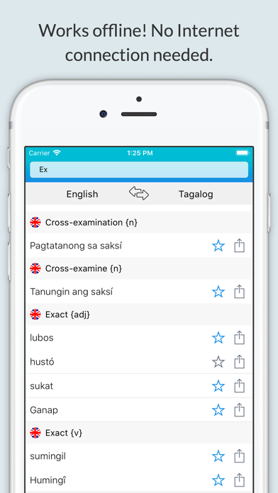 English Tagalog Dictionary + screenshot 1
