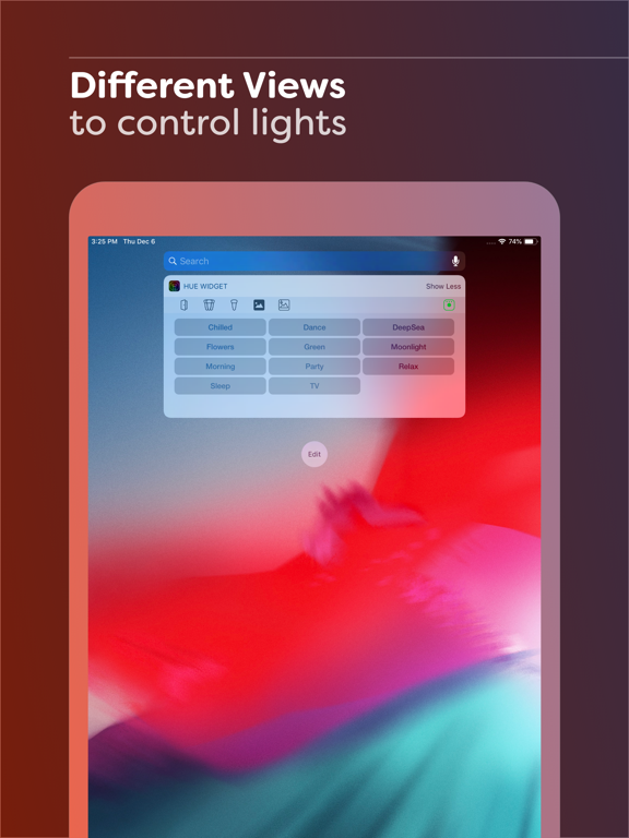 Hue Widget Screenshots