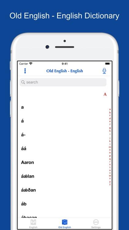 English-Old English Dictionary