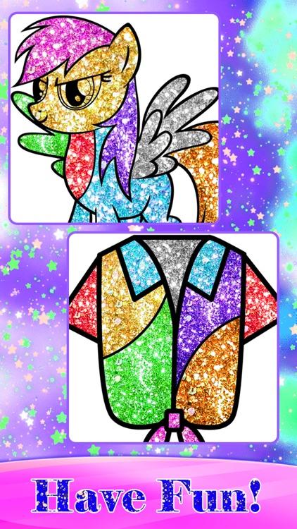 Glitter Fashion Art Coloring screenshot-6