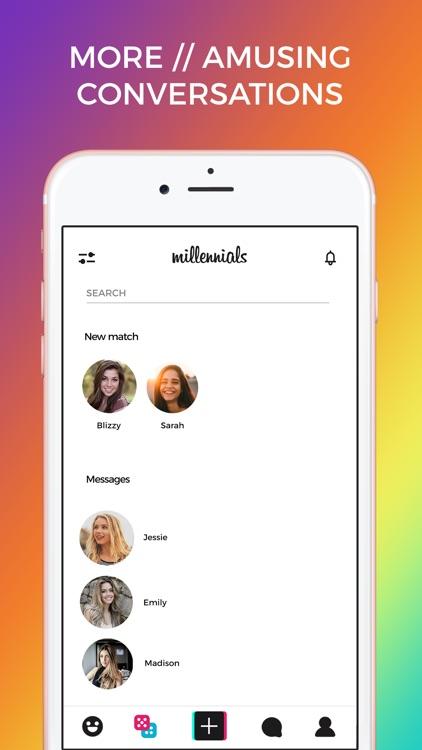 Millennials App - Meet, Dating screenshot-3