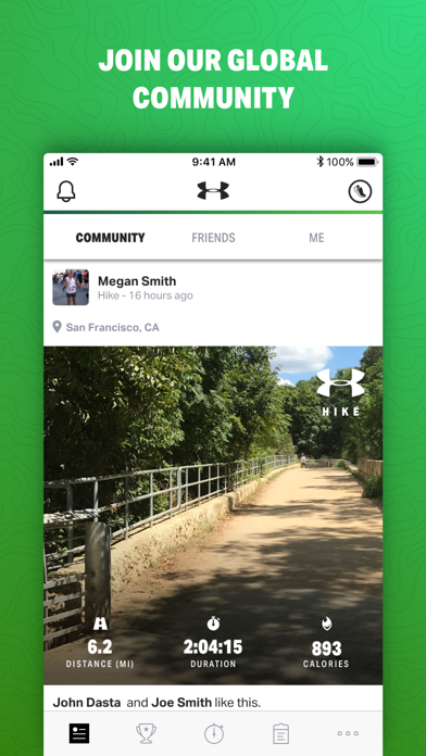 Map My Hike By Under Armour review screenshots