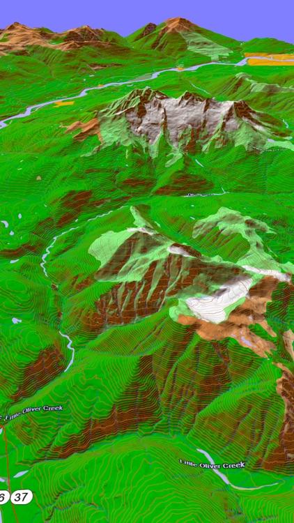Scenic Map Western Canada screenshot-4