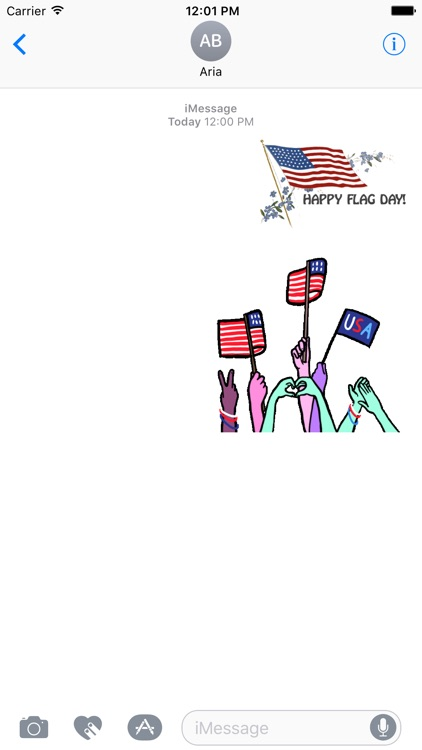 Animated Happy Flag Day USA