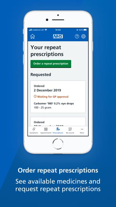 NHS App screenshot four
