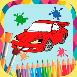 Cars coloring book to paint