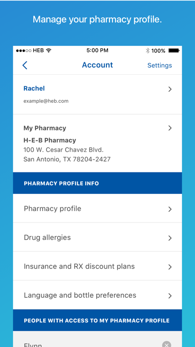 H-E-B Pharmacy Screenshot on iOS