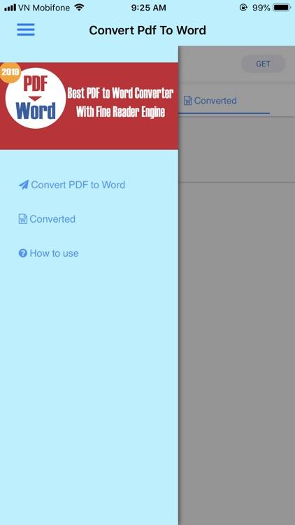 Convert PDF to Word 2019