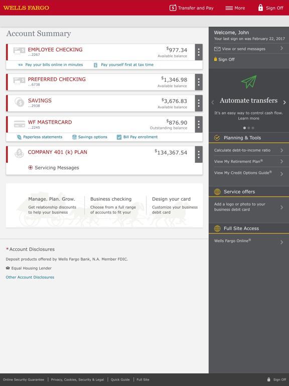 Wells Fargo for iPad at AppGhost com