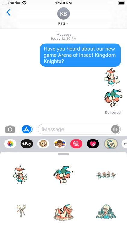 Insect Kingdom Knight Stickers