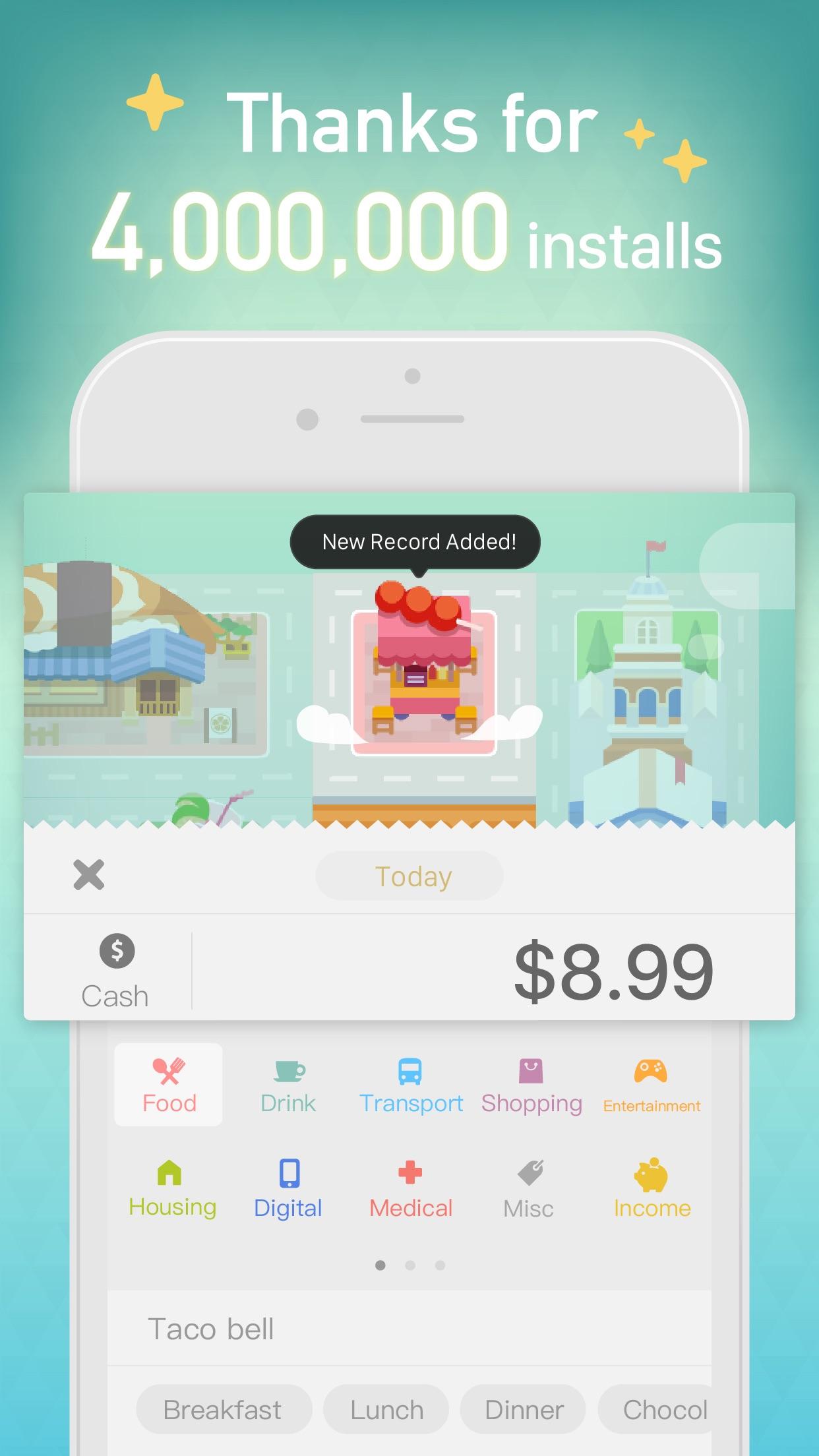 Fortune City - Expense Tracker Screenshot