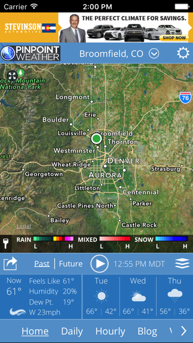 Screenshot for Pinpoint Weather - KDVR & KWGN in United States App Store