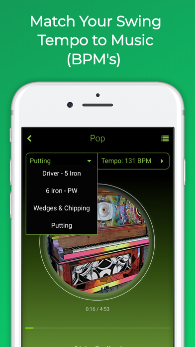 Golf BPM - Swing Tempo Music screenshot two