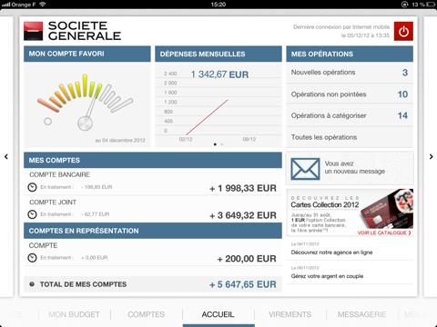 Société Générale pour iPad - náhled