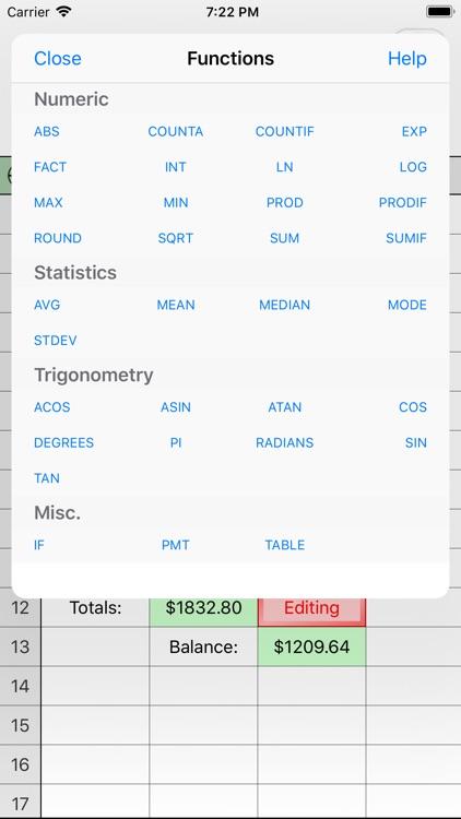 Utility Spreadsheet Pro screenshot-3