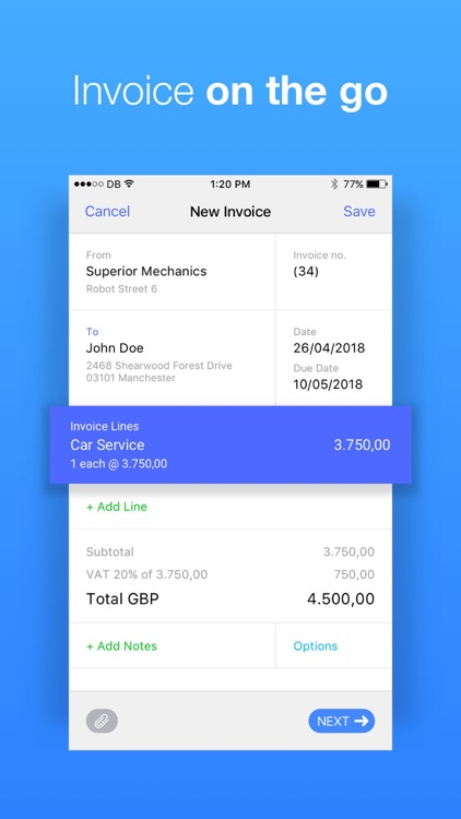 Debitoor Invoices & Accounting screenshot-0
