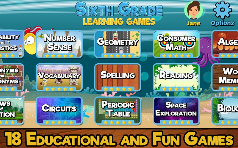Sixth Grade Learning Games screenshot 1