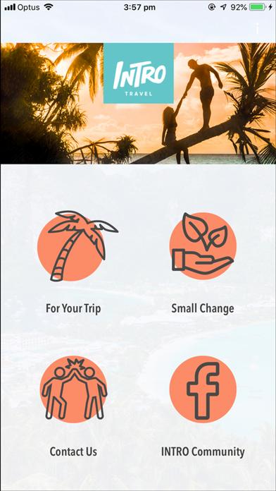 INTRO Travel App