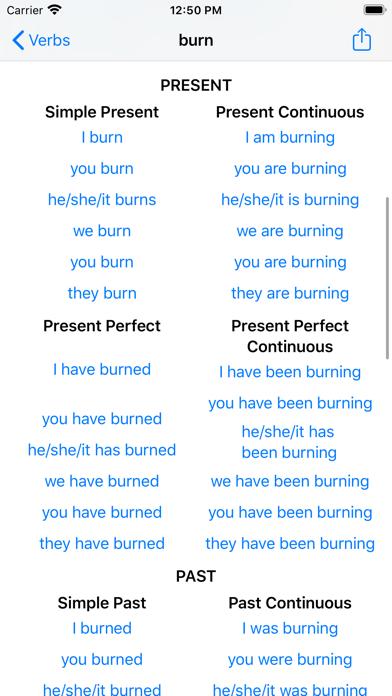 English Verbs. screenshot three